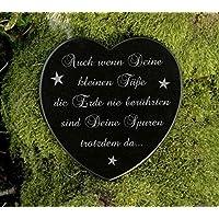 Gedenkstein Herz Grabschmuck Sternenkind Gravur