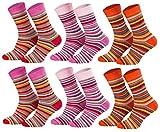 Tobeni 6 Paires Chaussettes Chaudes Thermo-calinees epaisseur en Coton avec Alimentation eponge pour Garcon et Fille Couleur 2x Rouge 2x Rose 2x Terre cuite Taille 31-34