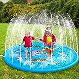 Harddo Splash Splash speelmat, voor outdoor drink- en splash speelmat, opblaasbaar waterspeelgoed, voor kinderen, peuters en kinderen 170cm