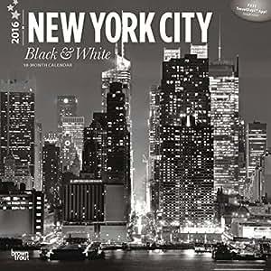CALENDRIER 2016 NEW YORK - NEW YORK NOIR ET BLANC - BROOKLYN - STATUE DE LA LIBERTE - MANHATTAN - CENTRAL PARC - BRONX - PHOTO VINTAGE + offert un agenda de poche 2016