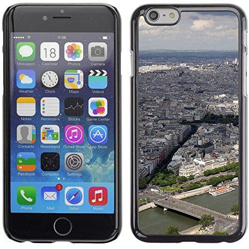 Graphic4You Paris At Night Skyline View Postkarte Ansichtskarte Design Harte Hülle Case Tasche Schutzhülle für Apple iPhone 6 Plus / 6S Plus Design #3