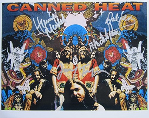 Superb Canned Heat Signiertes Foto, 10 x 8