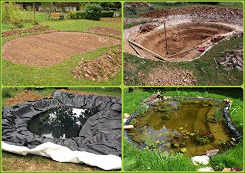 Teichfolie Gartenteichfolie 1,0mm schwarz Folie für den Gartenteich Teichbau verschiedene Abmaße … (1m lang, schwarz 2m breit) - 4