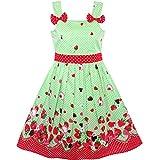 50a61f8a7 Sunny Fashion Vestido para niña Dibujos Animados Polka Dot Corbata de moño  Fresa Sol 2-3 años