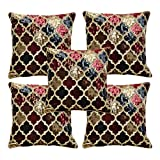 Elegant Design Cushion Cover of Size: 40x40 cms is made for your comfort and adding an opulent vibe in your surroundings. Coming in a pack of 5, it is available in many designs & Patterns (Abstracts, Floral, Ethnic, Embroidered, Geometric, Self-D...