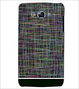 PrintDhaba LINES PATTERN D-6382 Back Case Cover for SAMSUNG GALAXY ON7 (Multi-Coloured)