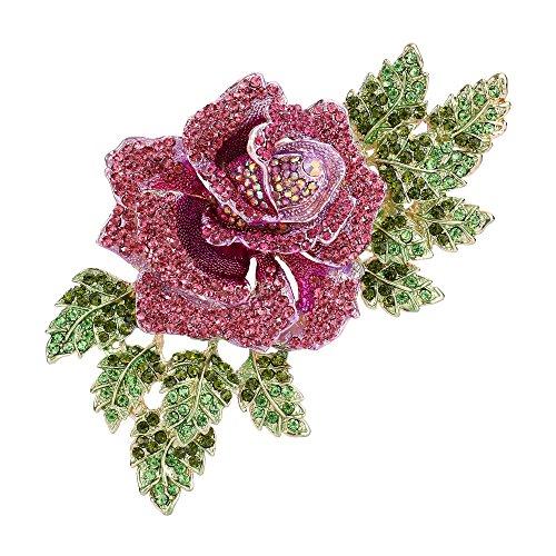 Flyonce Broches Finas Mujer Serie de Flor - La Rosa Grande Elegante para  Regalo Boda Fiesta 6692ba34567