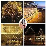 Batteriebetrieben 200er LED Lichternetz Lichterketten Netz für Draußen Innenräume,3M x 2M,Deko Leuchte für Weihnachten Hochzeit Schlafzimmer...