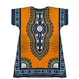 Homes & Deco Kleidung Dashiki afrikanischen Traditionelle Mexikanische Shirt Kaftan mit Reißverschluss & 2Seitentaschen für Männer & Frauen Light Orange/Yellow