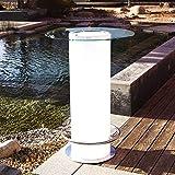 Luminatos 18 LED Tisch mit Glasscheibe Eisfach Farbwechsel Akku Betrieb