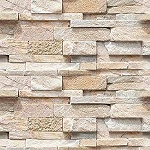 Adesivo rivestimento per parete effetto pietra mattoni grandi for Carta muro lavabile adesiva