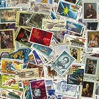 Colección de sellos de la URSS, gran formato, obliterados, 100 ejemplares