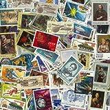 Diversi francobolli Urss, formati grandi, obliterati (Confezione da 100)