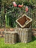 Strong Square Log Storage Baskets Set of 3