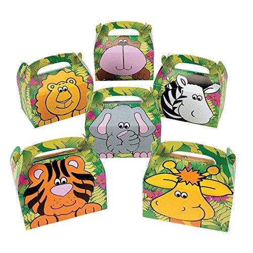 schachtel Zootiere mit Rückseite - Tiere Elefant Zebra Tiger Kindergeburtstag Zooparty Geburtstag Zoo (Zebra-geburtstag)