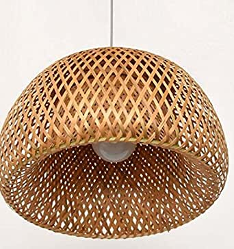 New and Imported Bamboo Wicker Rattan Shade Pendant Light
