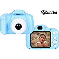 BLESSBE Digital Camera, Recorder Camera 800W HD 2.0 Inch Screen Video Front Camera for Children(Blue) - BB16