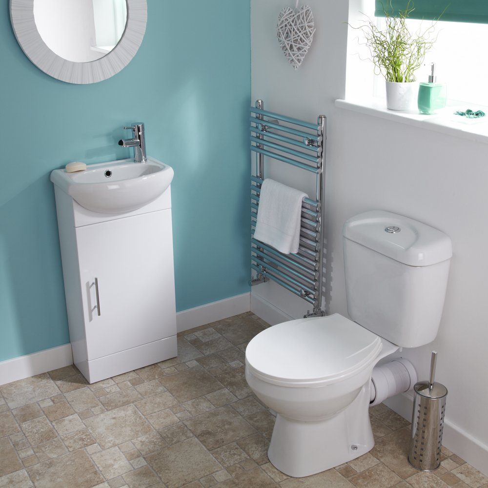 Home Standard Compact Vanity Bathroom Suite   420mm Vanity Unit   Basin    Close Coupled Toilet  Amazon co uk  Kitchen   Home. Home Standard Compact Vanity Bathroom Suite   420mm Vanity Unit