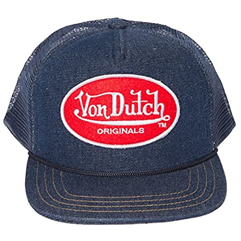 Von Dutch Men's OG Patch Red Trucker Hat-One Size