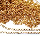 #10: Silk Threads Jewellery Making Chain Golden 5 Mtr