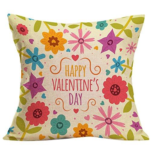 MOIKA Valentinstag Pillow Throw Pillow Mode Dekokissen Cases Cafe Sofa Kissenbezug 45x45cm (ohne Kissen)