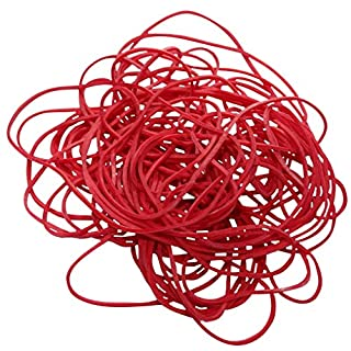 Aerzetix: 100 g Red Rubber bands, Rubber rings, Elastic bands, diameter 80 mm, made of 70 % natural rubber, approx. 195 pcs., C17195