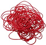 Aerzetix 100gr Red Rubber Bands Rubber Bands Elastic Bands X3 A6; 80 mm 70% Natural Rubber (195 Pieces C17195