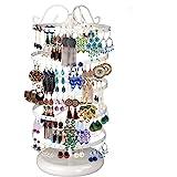 220 Trous Rangement Bijoux, 5 Niveaux Présentoir Porte-Bijoux Rotatif en Fer pour Boucles d'oreilles Afficher Bracelets Colli