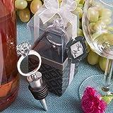 Set von 6 Diamant-Ring Wein / Sekt Flaschen-Stopper-Bevorzugungen (2er-Pack)