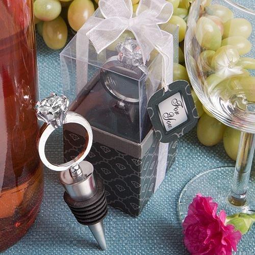 Set von 6 Diamant-Ring Wein / Sekt Flaschen-Stopper-Bevorzugungen (2er-Pack) (Diamant-ring-wein-stopper)