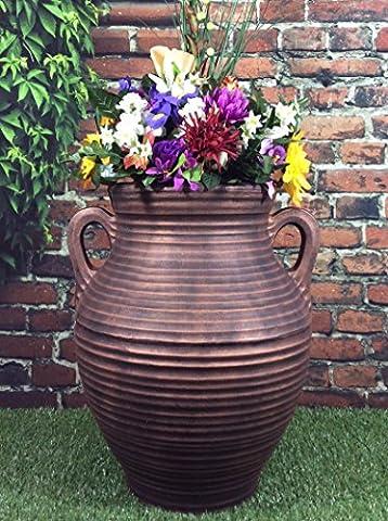 Victorian Garden & Lighting Company Grand vase athénien de jardin effet bronze