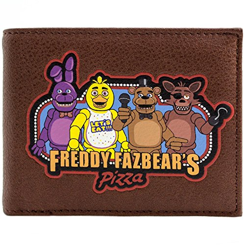 Five Nights At Freddys Fazbear Pizza Braun Portemonnaie ()