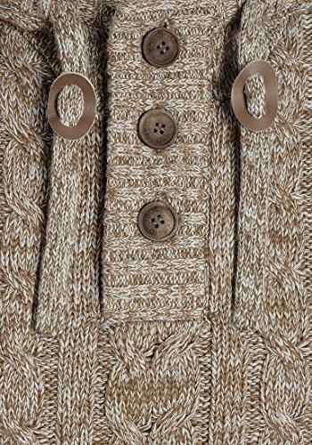 SOLID Pierre Herren Kapuzenpullover Strickhoodie aus 100% Baumwolle Meliert Dune (5409)