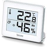 Beurer HM 16 Thermo-Hygrometer, Weergave van Temperatuur en Luchtvochtigheid, Smiley-Weergave