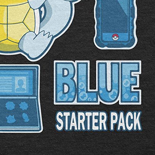 TEXLAB - Blue Poke Pack - Herren Langarm T-Shirt Schwarz