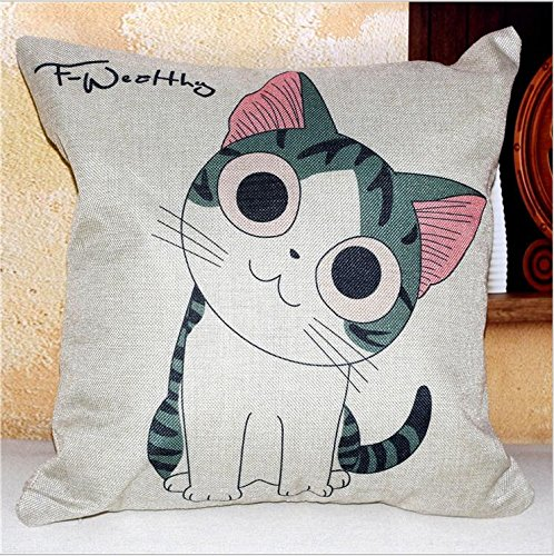 JinRou Moda casual Cat viso carino decorazioni cotone materiale divano letto cuscino 18 , 8 (Letto Viso)
