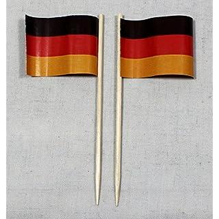Party-Picker Flagge Deutschland Papierfähnchen in Profiqualität 50 Stück 8 cm Offsetdruck Riesenauswahl aus eigener Herstellung