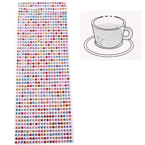 Strasssteine Glitzersteine selbstklebend Bordüre Mixfarben 5mm