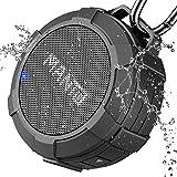 MANTO draadloze doucheluidspreker, draagbare mini outdoor waterdichte stereo geluid V4.2 muziekbox, 12 uur speeltijd, werkt met laptop/tablets/iPhone/Android-apparaten