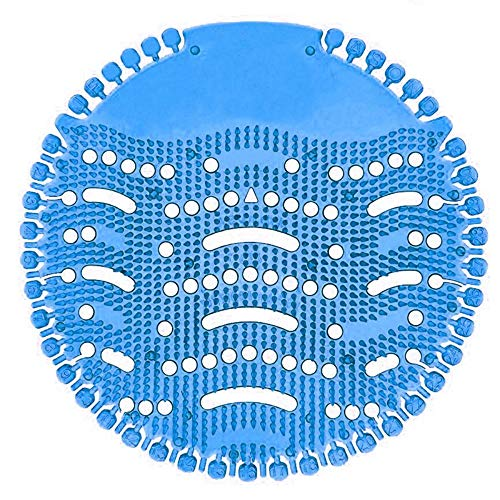 La rejilla de urinarios clapur,Inodoro para hombre urinario filtro estera Splash desodorante fregadero filtro fragancia antibloqueo baño desodorante (5PCS), aroma de mango, azul
