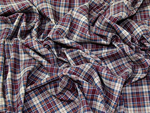 Tartan gebürstete Baumwolle Kleid Stoff lingdale–Meterware
