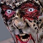 feiermeier Zombie Schmink Set für Fasching & Halloween mit weißen Kontaktlinsen, Latexmilch & Kunstblut - Horror…
