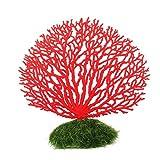 PIXNOR Adorno Coral Artificial para Acuario Decoración (Rojo)