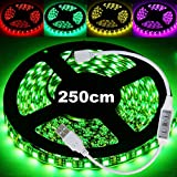 20 Farben LED Lichterkette Lichterband RGB 5050 LED Strip Lichtstreifen Flexible Band +Controller für Fade/Flash 5V USB Stromversorgung für PC, Auto, TV, Powerbank Selbstklebend Klebeband