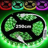 20 Farben LED Lichterkette Lichterband RGB 5050 LED Strip Lichtstreifen Flexible Band +Controller für Fade/Flash 5V USB Stromversorgung für PC, Auto, TV, Powerbank Selbstklebend Klebeband