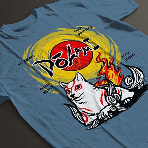 Dokami Okami Women's T-Shirt Indigo Blue