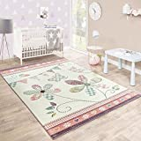 Enfants TapEnfants Tapis Papillon Cr/ème Roseis Papillon Cr/ème Rose Dimension:80x150 cm
