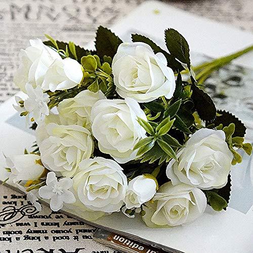 muxiao Kunstblume 5 Stiele 10 Blumen 2 Knospen Kleine Rose Künstliche Blume Künstliche Blumen Simulation Rosen Seidentuch 10 Köpfe Kunstrose Handmade Beautiful - Kopf-tisch-mittelstücke
