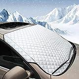 BEEWAY Vindrutefodral för bil, kraftig ultratjock skyddande vindruta skydd – snö is frost sol UV damm vattentålig – perfekt p