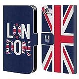 Head Case Designs Fahne Das Beste Von London Brieftasche Handyhülle aus Leder für Apple iPhone 4 / 4S